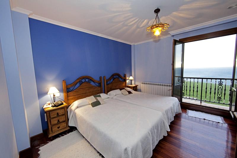 Habitación Azul del Agroturismo Santa Klara de Zumaia